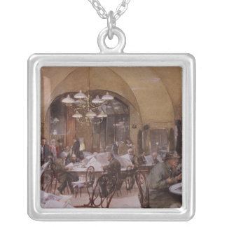 Cafe Griensteidl, Vienna, 1890 Silver Plated Necklace