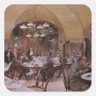 Cafe Griensteidl, Vienna, 1890 Square Sticker