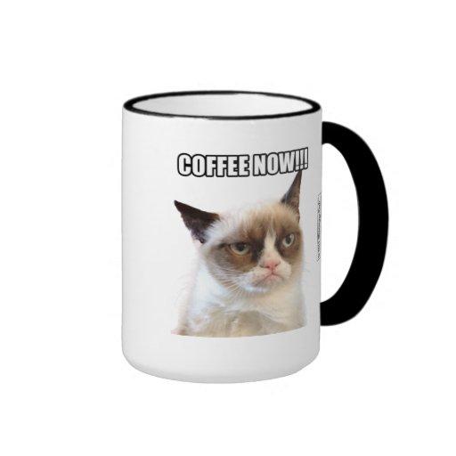 ¡CAFÉ gruñón de Cat™ AHORA!!! Taza