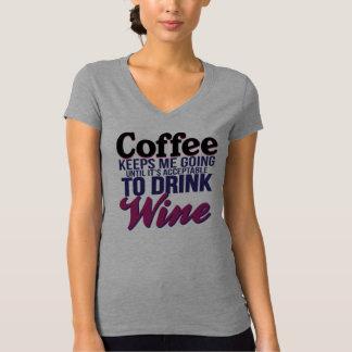 Café hasta que sea aceptable beber el vino poleras