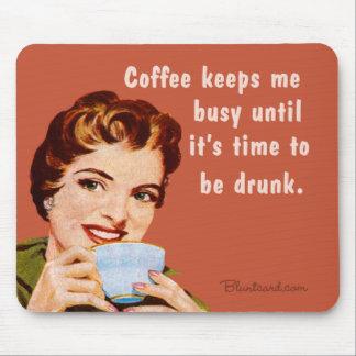 café, hasta que sea hora de ser bebido tapete de ratones
