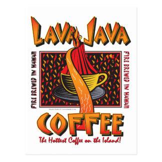 Café hawaiano de Java de la lava Tarjetas Postales