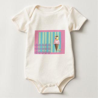 Café + Helado = amor un postre soñador Body Para Bebé