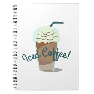 Café helado spiral notebooks