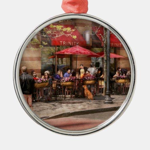 Café - Hoboken, NJ - trinidad del café Ornamento Para Arbol De Navidad