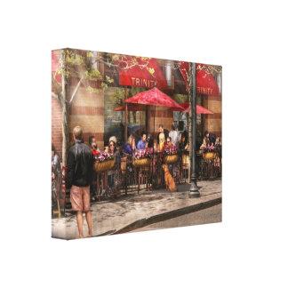 Café - Hoboken, NJ - trinidad del café Lona Estirada Galerias