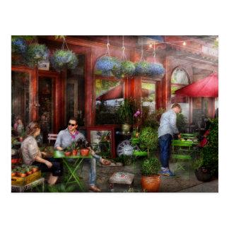 Café - Hoboken, NJ - un día hacia fuera Postal