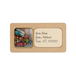 Cafe - Hoboken, NJ - Vito's Italian Deli Address Label