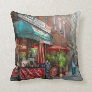 Cafe - Hoboken, NJ - Vito's Italian Deli Throw Pillow