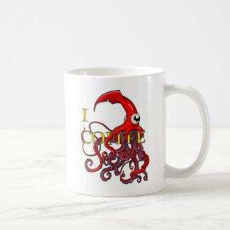 Café I del ataque del calamar gigante Tazas De Café