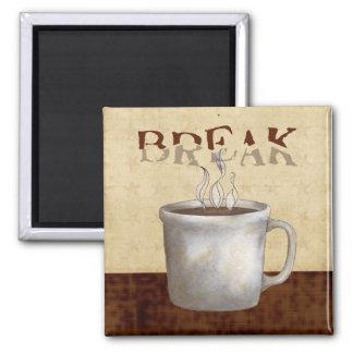 café imán de frigorifico
