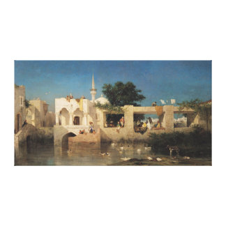 Cafe in Adalia, 1856 Canvas Print