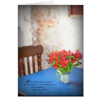 Cafe' in Antigua, Guatemala Card