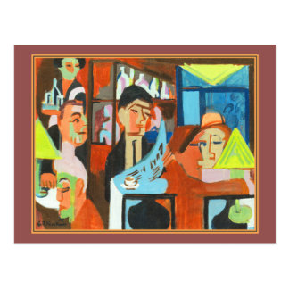 Cafe in Davos by Ernst Ludwig Kirchner Postcard