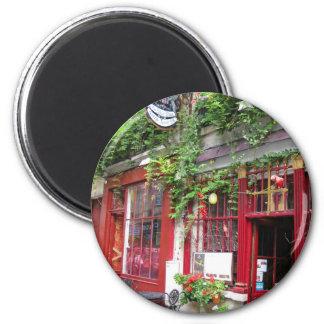 Cafe in Paris 2 Inch Round Magnet