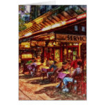 Cafe in Paris by Shawna Mac Cards