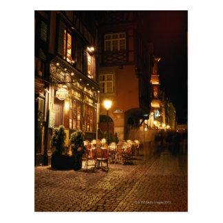 Cafe in Strasbourg Post Cards