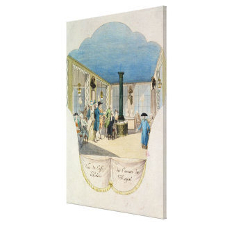 Cafe in the cellar of the Palais-Royal Canvas Print