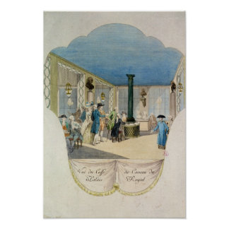 Cafe in the cellar of the Palais-Royal Poster