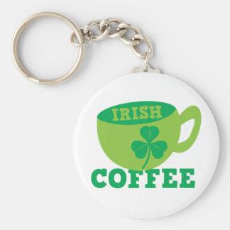 Café irlandés llavero redondo tipo pin