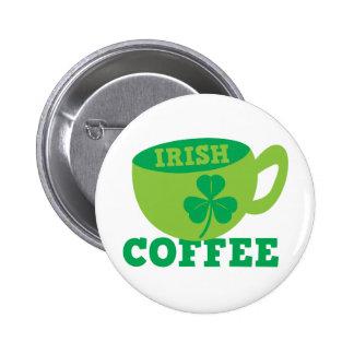 Café irlandés pin redondo de 2 pulgadas