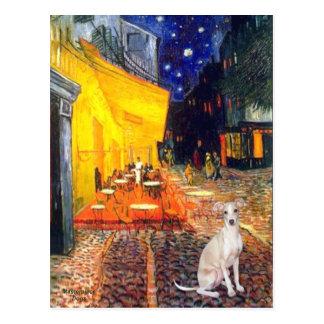 Cafe -Italian Greyhound 5 Postcard