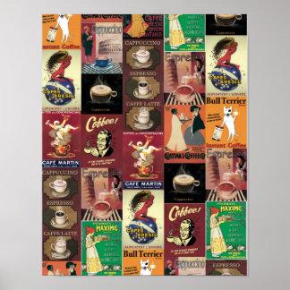 Café italiano del Poster-Café del vintage