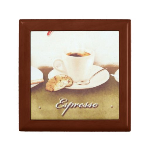 Café italiano joyero cuadrado pequeño
