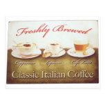 Café italiano postal