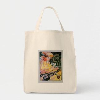 Cafe Jacamo Vintage Coffee Drink Ad Art Canvas Bag