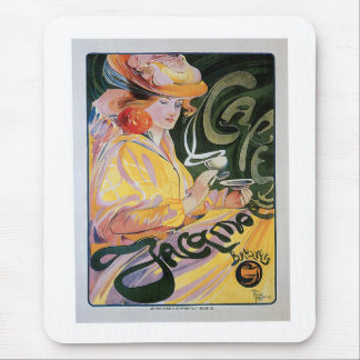 Cafe Jacamo Vintage Coffee Drink Ad Art Mouse Pad
