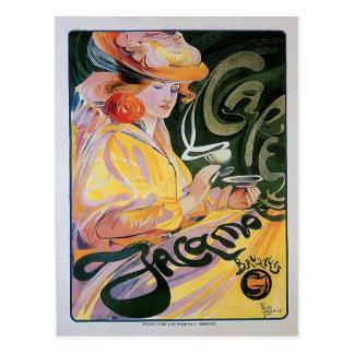 Cafe Jacamo Vintage Coffee Drink Ad Art Postcard