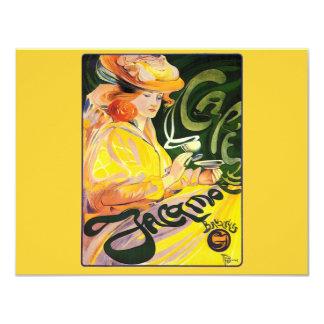 Café Jacqmotte 1900 del ~ de Fernando Toussaint Invitación 10,8 X 13,9 Cm