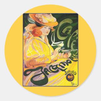 Café Jacqmotte 1900 del ~ de Fernando Toussaint Pegatina Redonda