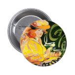 Cafe Jacqmotte ~ Art Nouveau Pinback Buttons