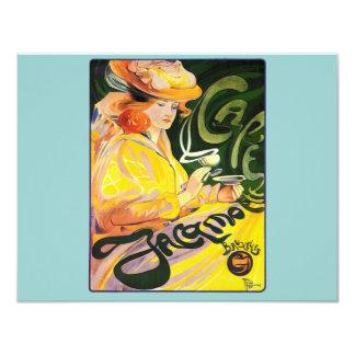 Café Jacqmotte del ~ de Fernando Toussaint Invitación 10,8 X 13,9 Cm