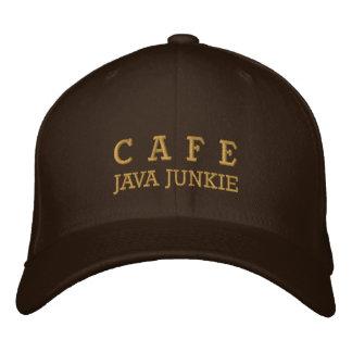 Cafe Java Junkie Embroided Hat