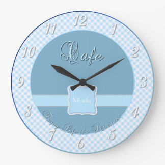 Cafe Kitchen Wall Clock - Chex Blue
