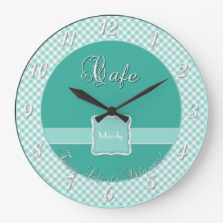 Cafe Kitchen Wall Clock - Chex MINT