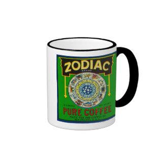 Café LabelNew Orleans, LA del zodiaco Taza De Dos Colores