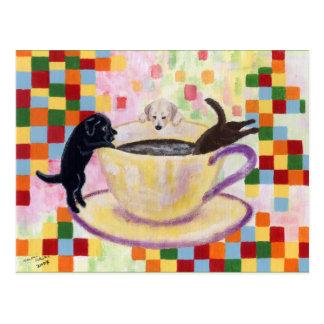 Café Labradors Tarjeta Postal