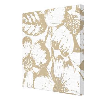 Cafe Latte Dogwood Floral Canvas Print