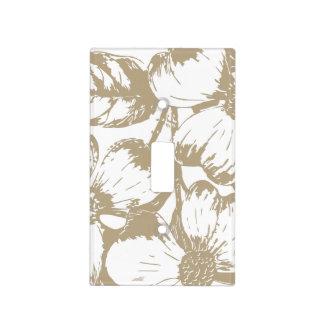 Cafe Latte Dogwood Floral Light Switch Cover