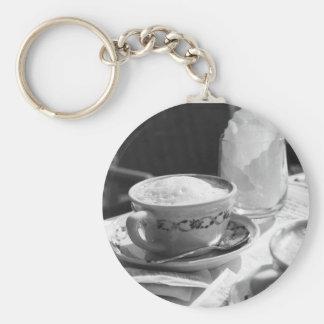 Cafe Latte Keyring Keychain