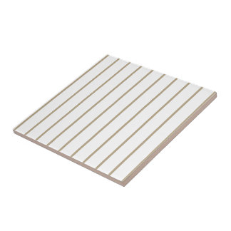 Cafe Latte Pinstripe Ceramic Tile