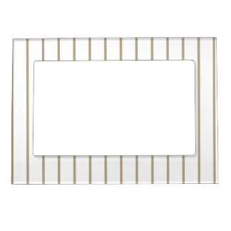 Cafe Latte Pinstripe Magnetic Picture Frame