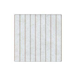 Cafe Latte Pinstripe Stone Magnet