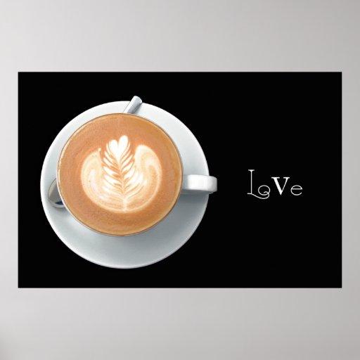 Cafe Latte Poster Print