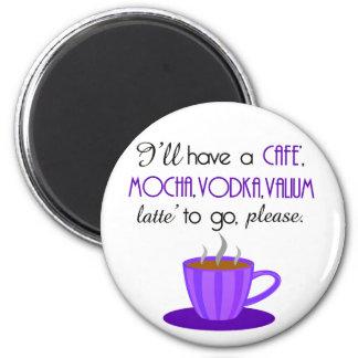 Cafe Latte Refrigerator Magnet