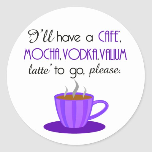 Cafe Latte Round Stickers